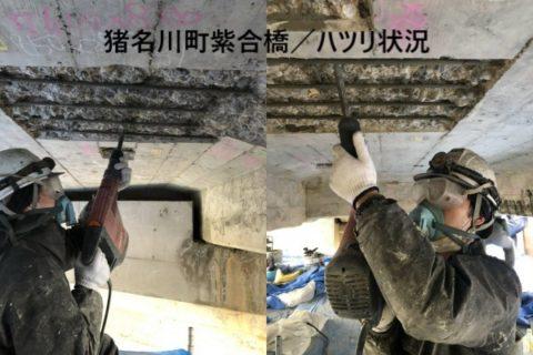 猪名川町 紫合橋/ハツリ状況
